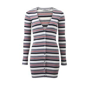 Alexander Wang merino fitted striped cardigan